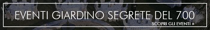 eventi giardino Segrete del 700