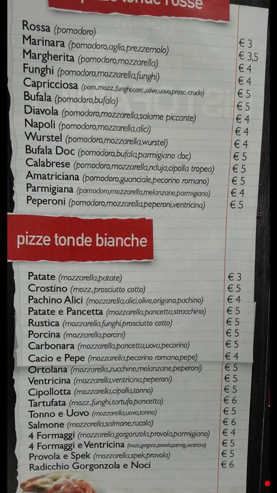 Menù a Roma