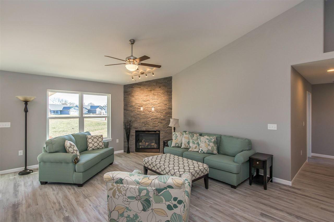 White wall living room