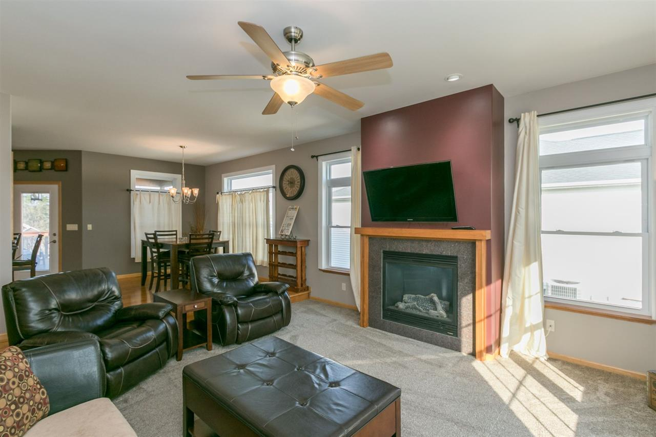 White Living Room with Black Sofa