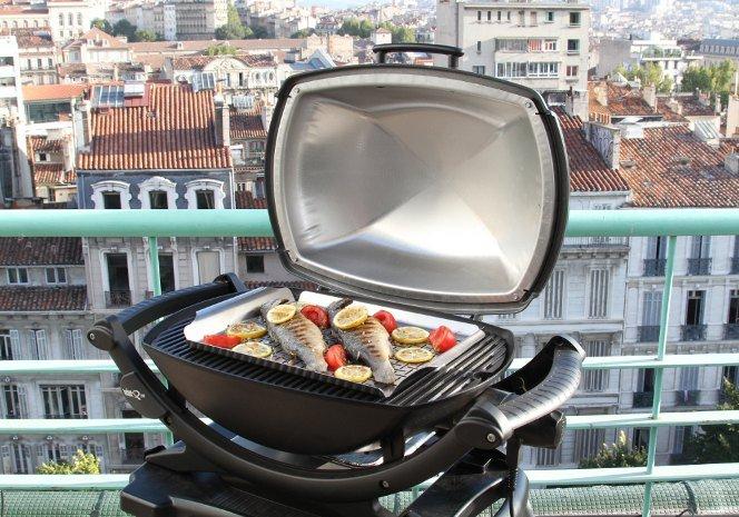 Barbecue su terrazzo
