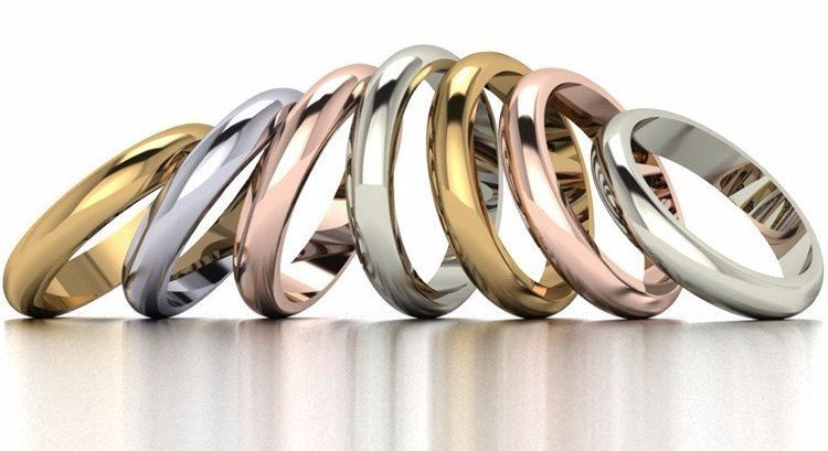 Gold and Platinum Rings