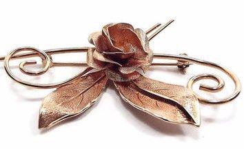 vintage antique rose gold brooch