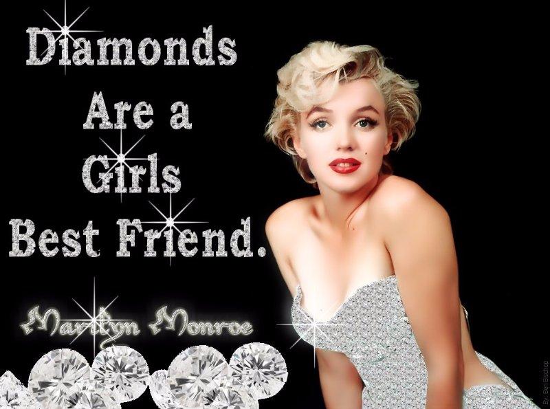 diamonds are a girls best friend marilyn  monroe