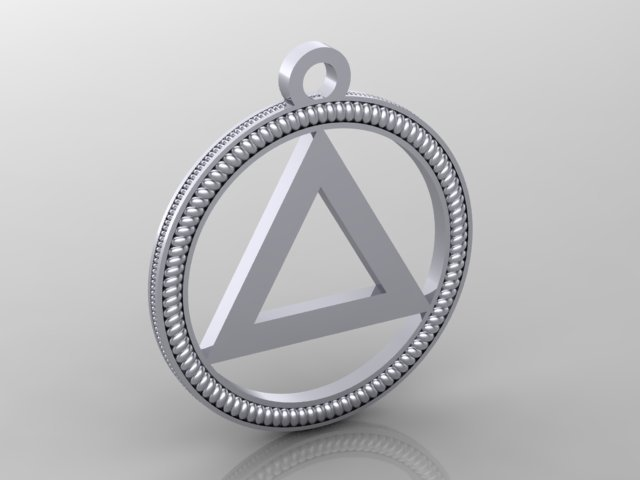 Sterling Silver Sobriety Pendant