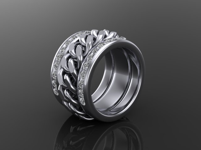 White Gold Chainlink Band