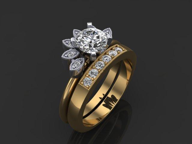 Family Diamond Wedding Set