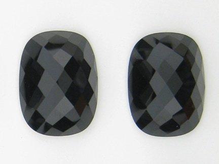 checkerboard cut black onyx gemstones