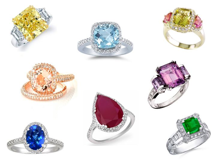 colored engagement rings 2017