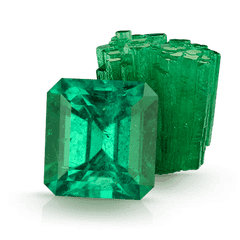 emerald faceted rough