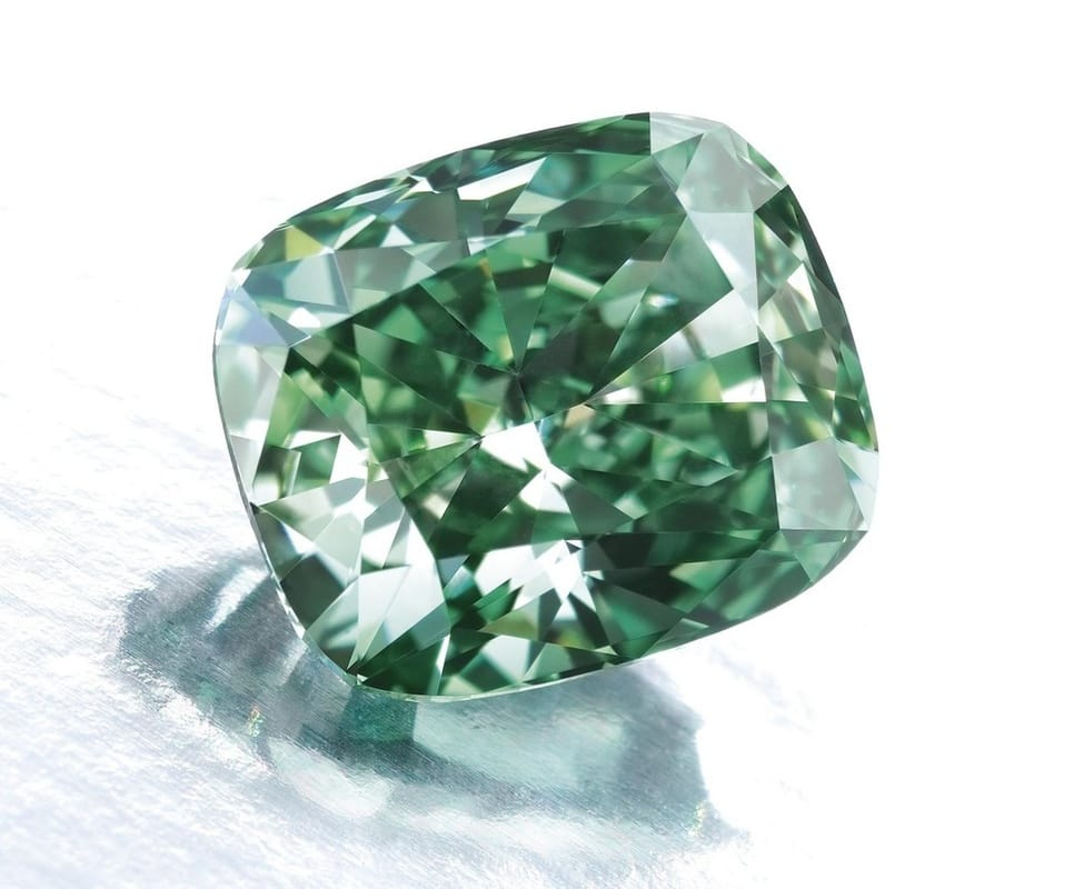 green irradiated diamond