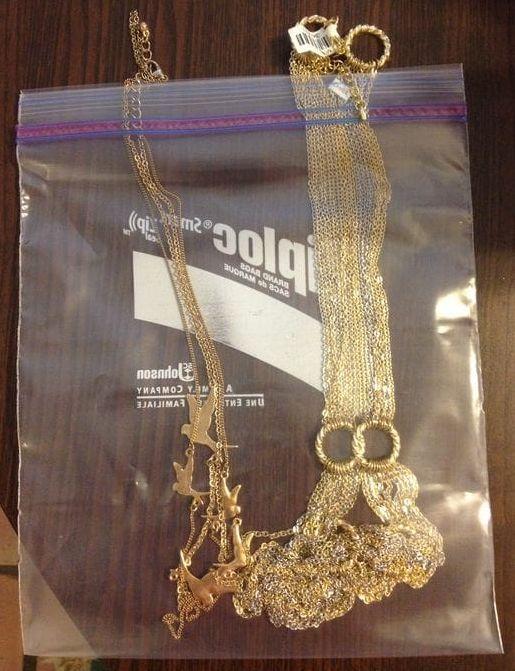 jewelry chains ziplock bag