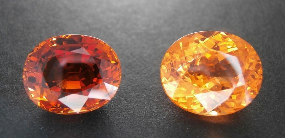 orange spessartite garnet gemstone