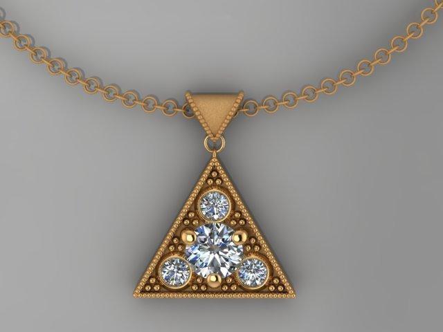 Past Present Future Diamond Pendant