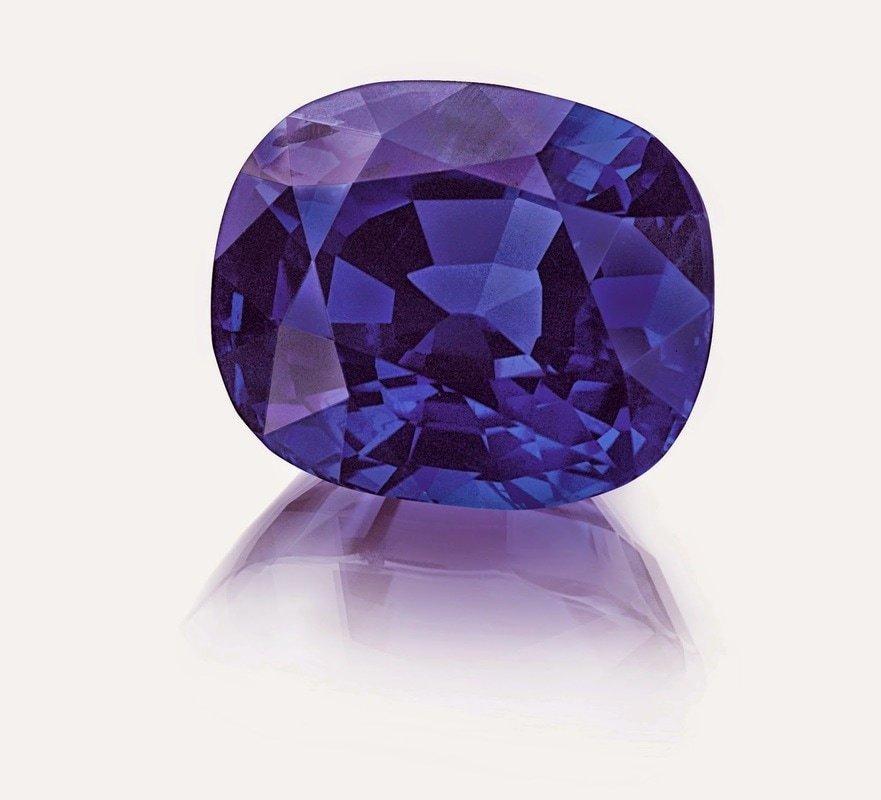 purple sapphire gemstone