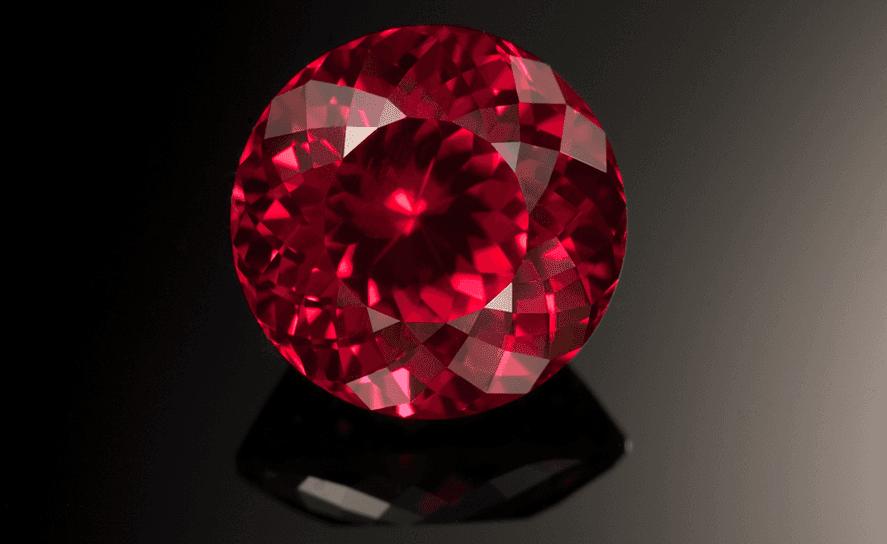 ruby red gemstone