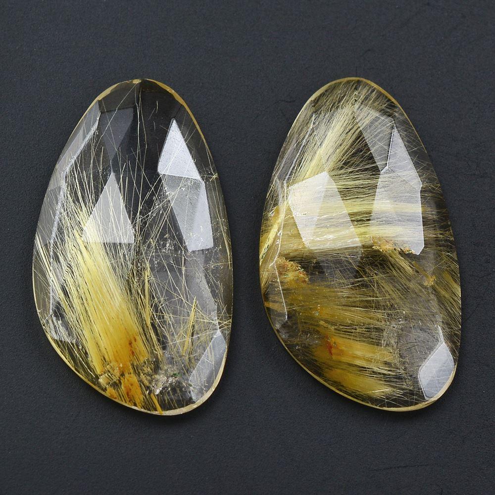 rutilated quartz gemstones