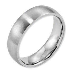 satin jewelry finish band