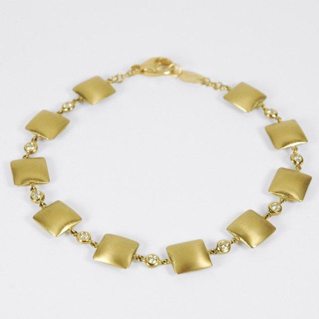 Gold and Diamond Pillow Talk Bracelet