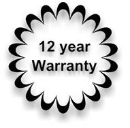 12 Year warranty logo
