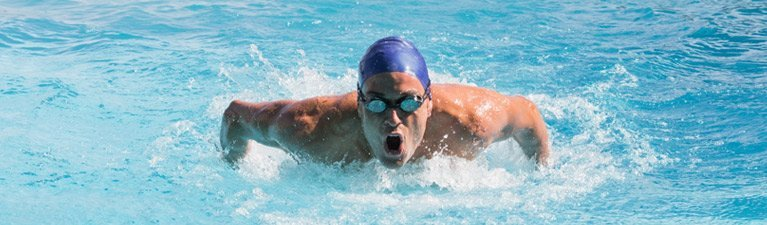 leisure coast pool centre man swimming