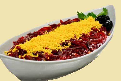 insalata mista con rapa rossa