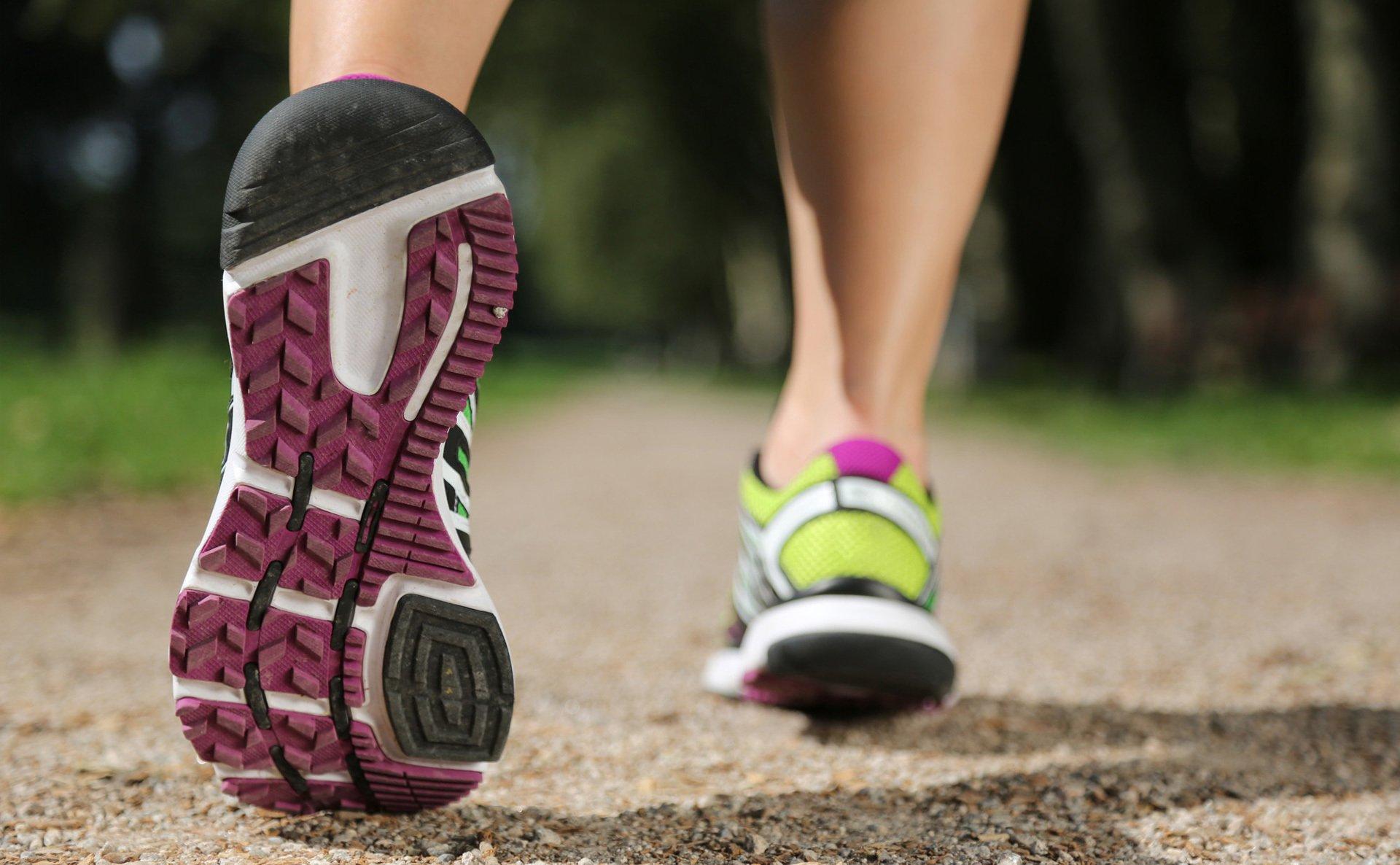 Outdoor runner wearing trainers
