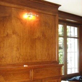 Rivestimento parete con inserimento punto luce