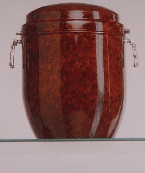 Due urne bianche de porcellana