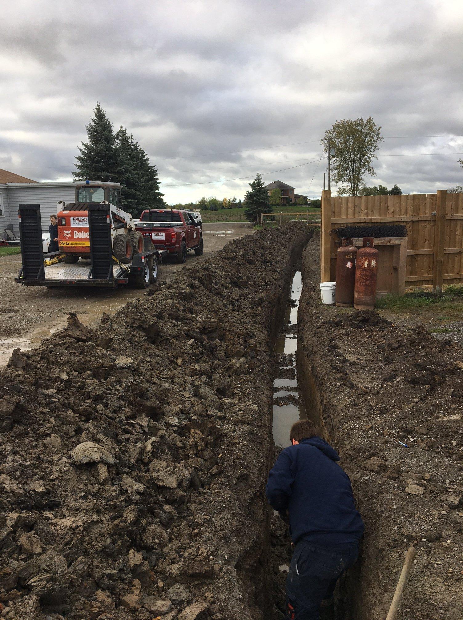 Bobcat excavators | trenching for utilities | water lines