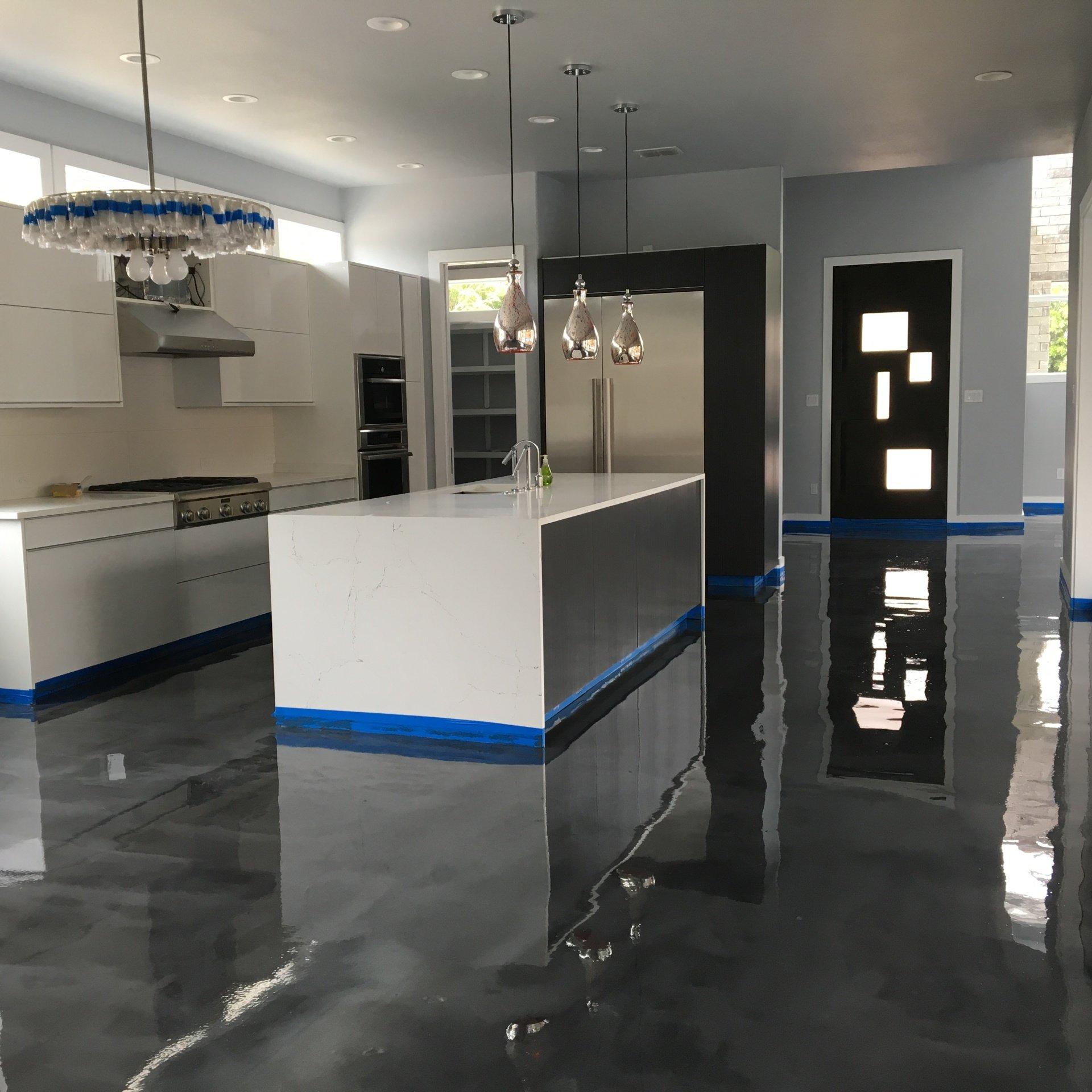 New Garage Flooring: Polyurethane & Epoxy Flooring