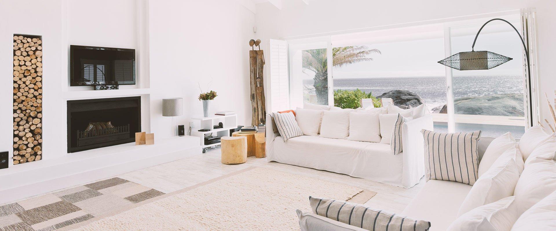 White colour sitting area