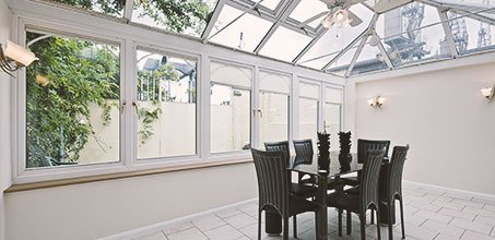 Glass roof sitting area