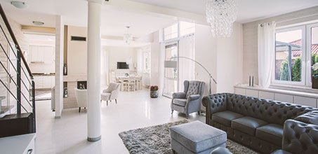 Furnished home interiors