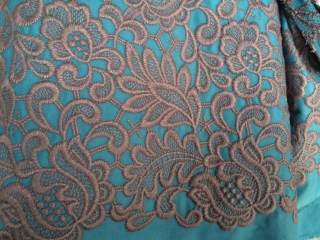 Embroidered fabrics