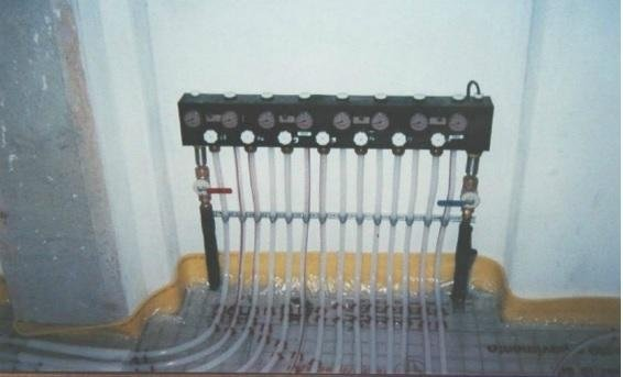 impianto riscaldamento a parete