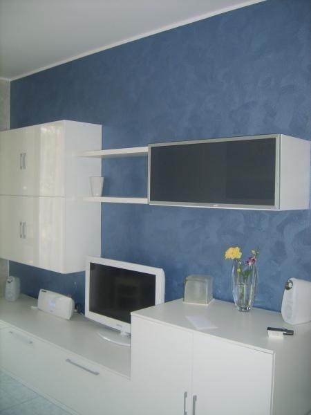 decorazione velatura blu
