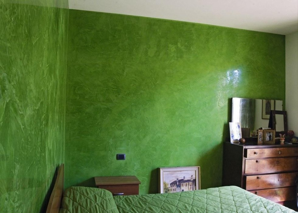 stucco veneziano color verde