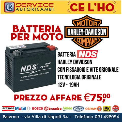 Batteria per moto