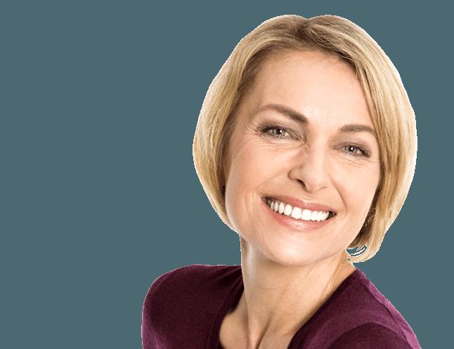 smile woman implants