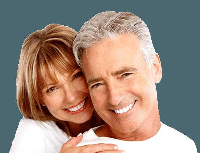 older couple smiles