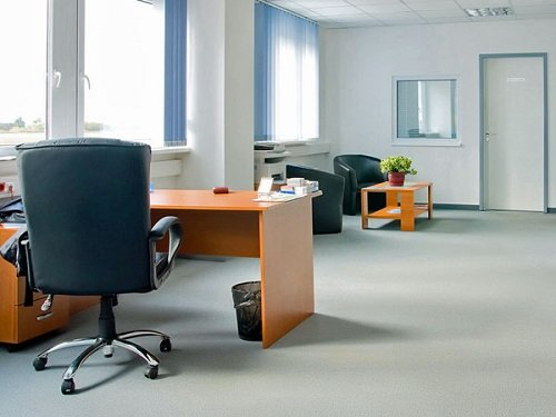 Ufficio, mobili di legno,poltrone neri di pelle