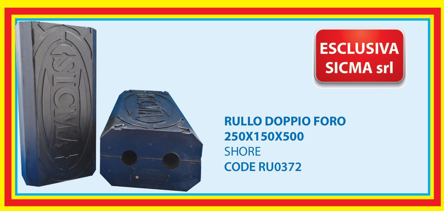 roll with double holes 250X150X500