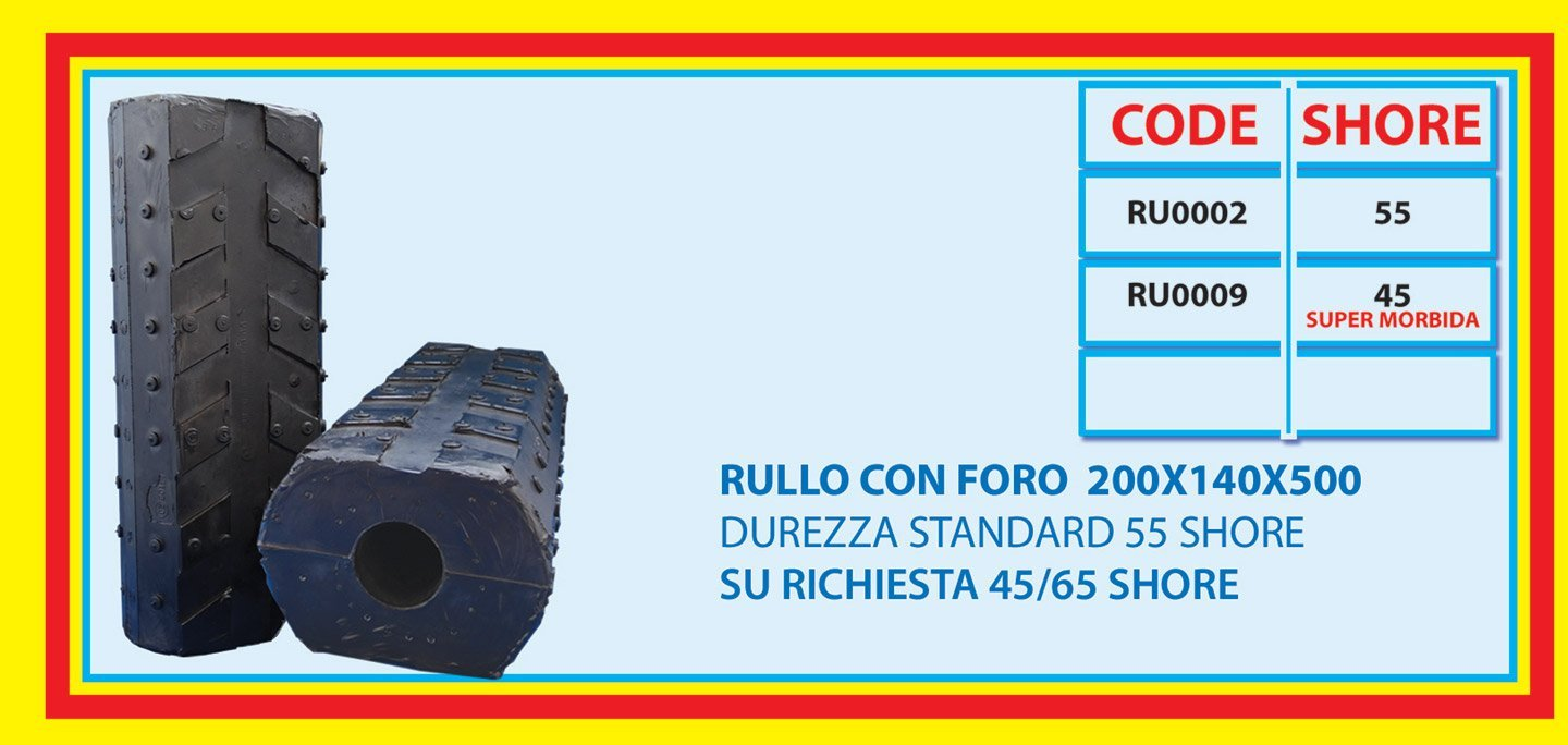 roll with centre hole 200X140X500