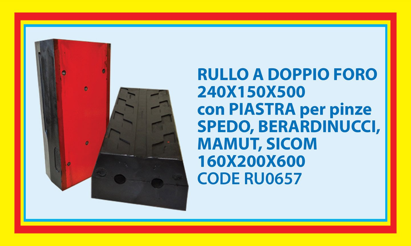 roll with two holes and plate for SPEDO gripper