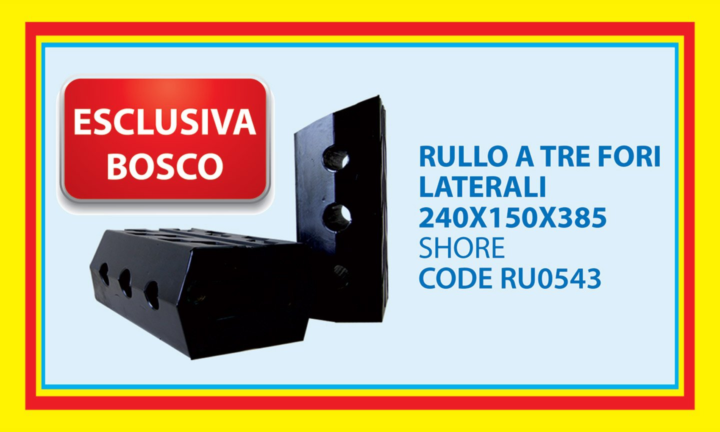 Exclusively from Bosco - roll with three lateral holes 240X150X385