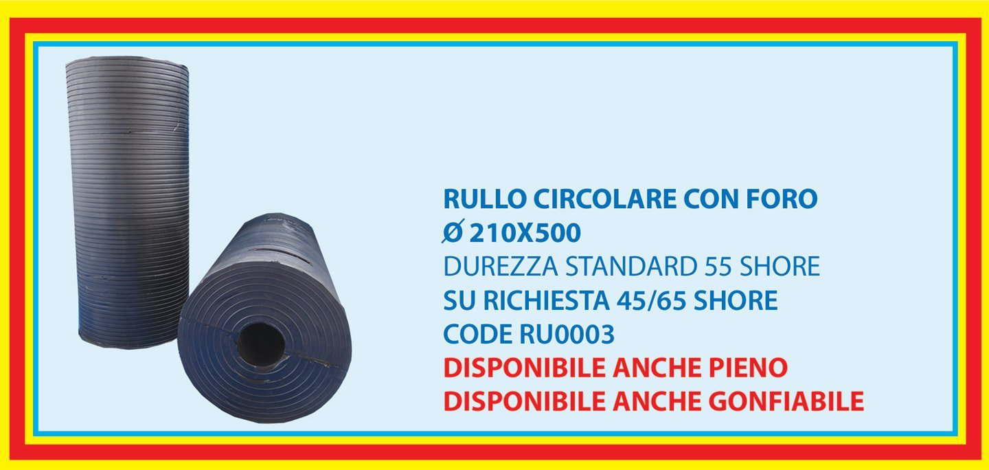 circular roll with centre hole 210X500