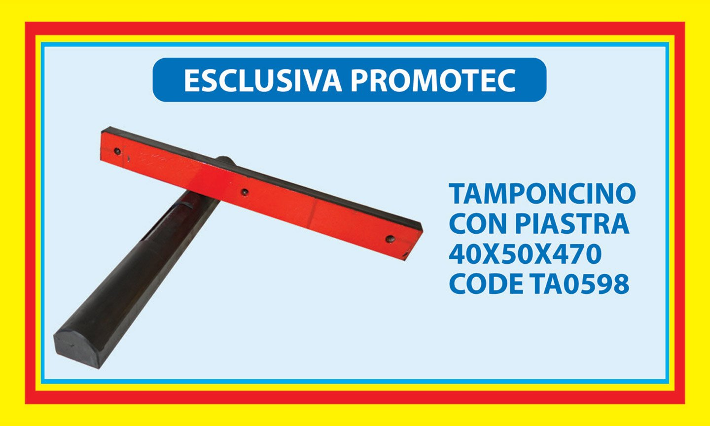 tamponcino con piastra 40X50X470