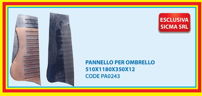 pannello per ombrello 510X1180X350X12