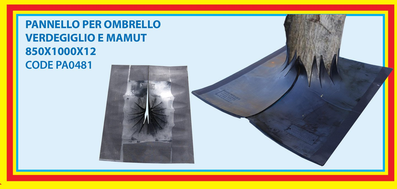pannello per ombrello verdemiglio e mamut